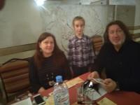 С Татьяной Дрыгиной и Бибиковой Полиной
