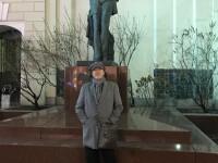 Декабрь 2019 г. В Камергерском переулке у памятника А.П. Чехову