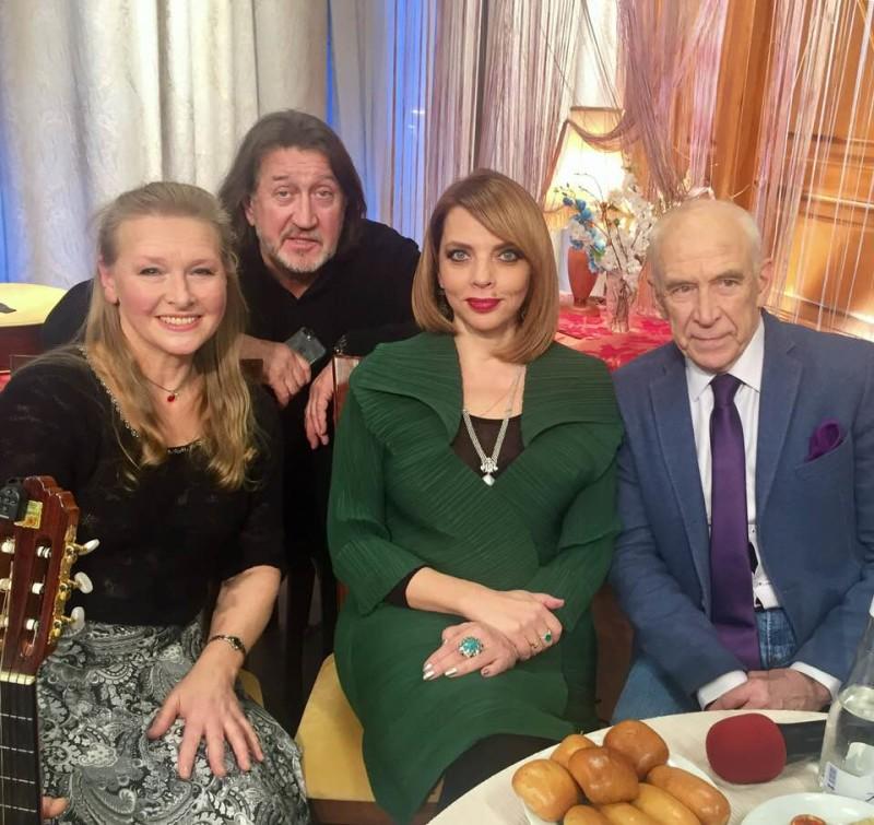 С Галиной Хомчик, Екатериной Рождественской и Александром Пашутиным