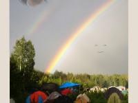 Двойная радуга на открытии Ильменки-2015