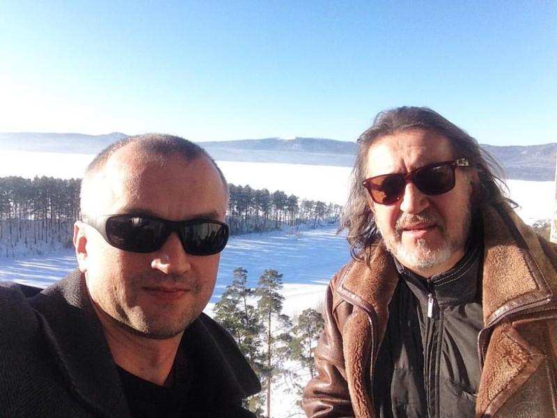 С сыном Сергеем