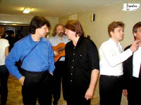 О.Митяев, М.Цитриняк, Б.Кинер. 20.06.2001 г. Концерт в день рождения Визбора