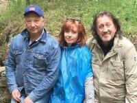 С Юрием Гальцевым и Ларисой Брохман
