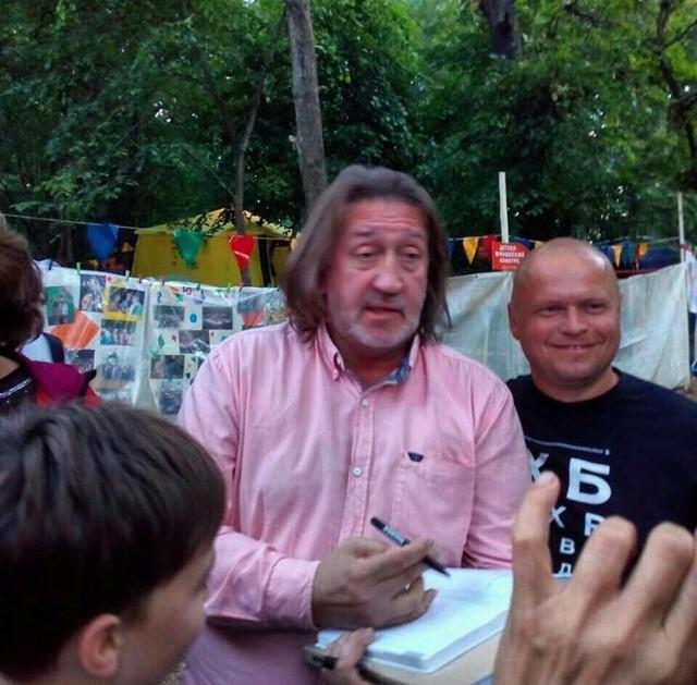 С Олегом Попцовым. 10.08.2018. 45 Грушинский фестиваль