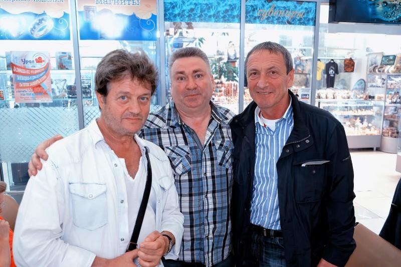 С Сергеем Андрейченко и  Валерием Дайнеко 2017 г.