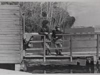 Озеро Смолино.Понтонный мостик.