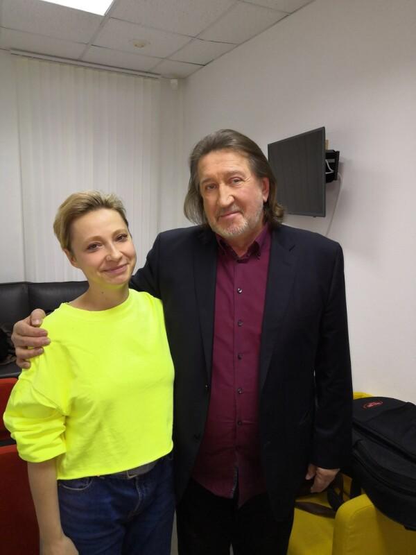 С Ксенией Тунякиной, февраль 2019