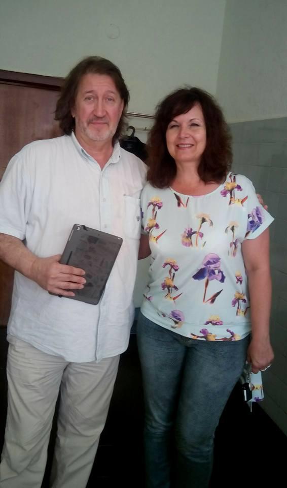 С Ольгой Ивановой, август 2016 г.