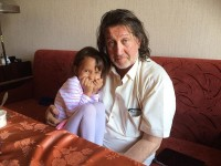 С внучкой Аней