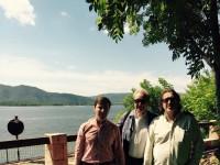 С Вениамином Смеховым  и Дмитрием Высоцким 2015 год.