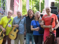 С Вадимом Мищуком, Сергеем Никитиным, Галиной Хомчик и Алексеем Иващенко