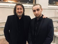 С сыном Филиппом