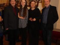 С дочерью Дашей, Вениамином Смеховым и Галиной Аксеновой