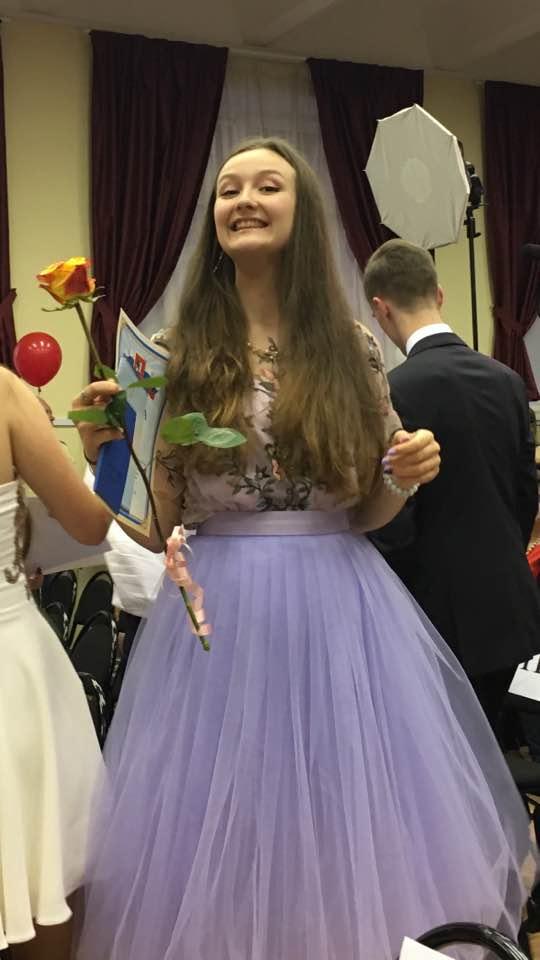 Даша Есипенко-выпускница школы. 23.06.2017 г.