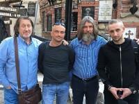 С сыновьями и Федором Конюховым