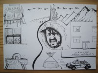 Рисунок на тему песен Олега Митяева