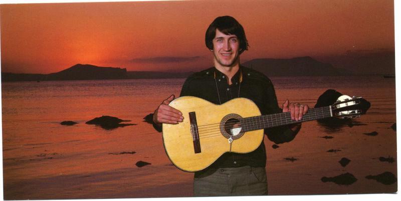 Фотооткрытка. Олег Митяев, автор и исполнитель песен. 80-е годы.