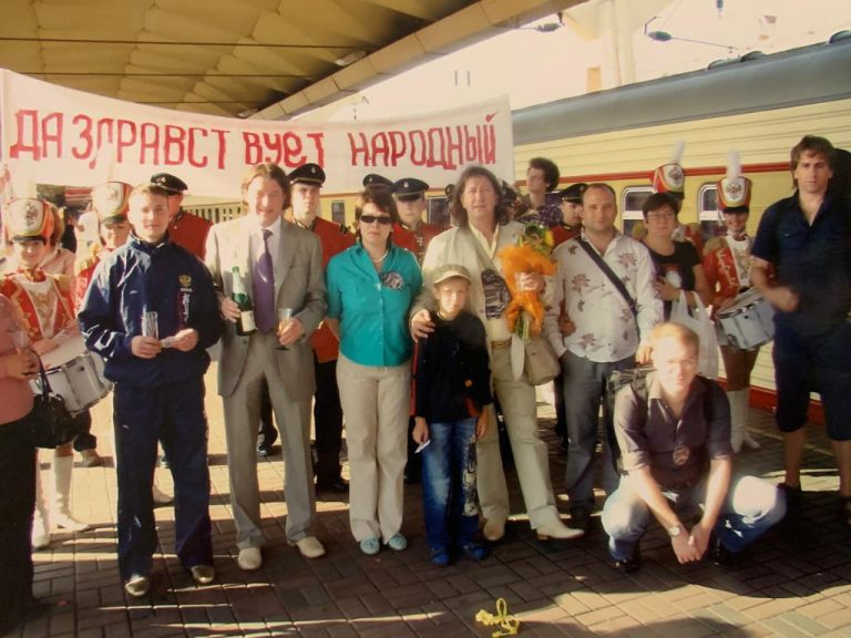 2009 г. Торжественная встреча Олега Митяева