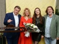 С Юрием Костиным и дочкой Дашей