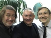 С Николаем Фоменко и Николаем Лебедевым