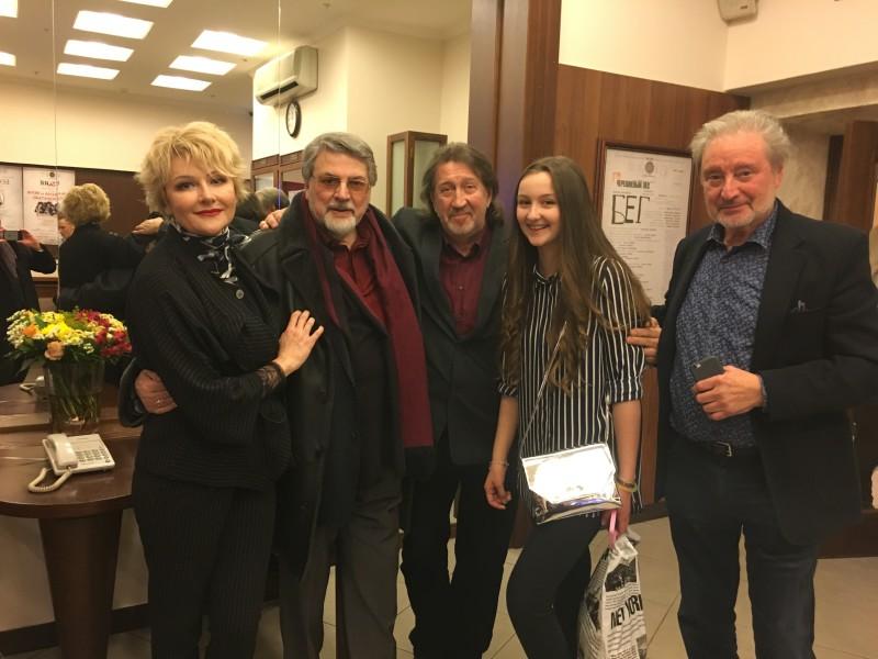 На Юбилейном вечере в честь 80-летия Центрального дома актера 14 февраля 2017 г. театр им. Е.Вахтангова