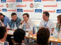 На пресс-конференции. Ильменка 2012