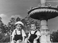 Фонтан в парке им.Гагарина. 1956 год