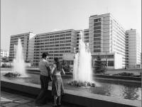 Вид на фонтан у общежития №8 и №3