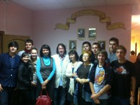 С учениками 11-А кл. школы №551 г Москвы