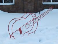 """Изгиб гитары белой"""