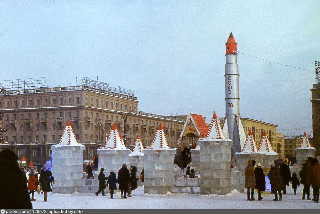 Ракета в снежном городке
