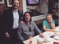 С Галиной Хомчик и Сергеем Огудиным