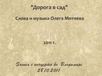 Дорога в сад. Владимир 28.10.2011