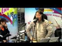 Олег Митяев в студии «Авторадио».